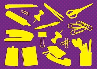 Office Supplies Vectors