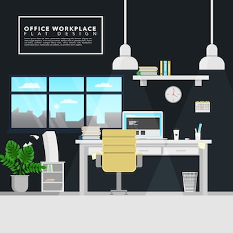 Office workplace background design