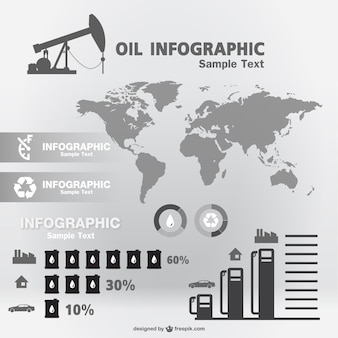Oil infographic template