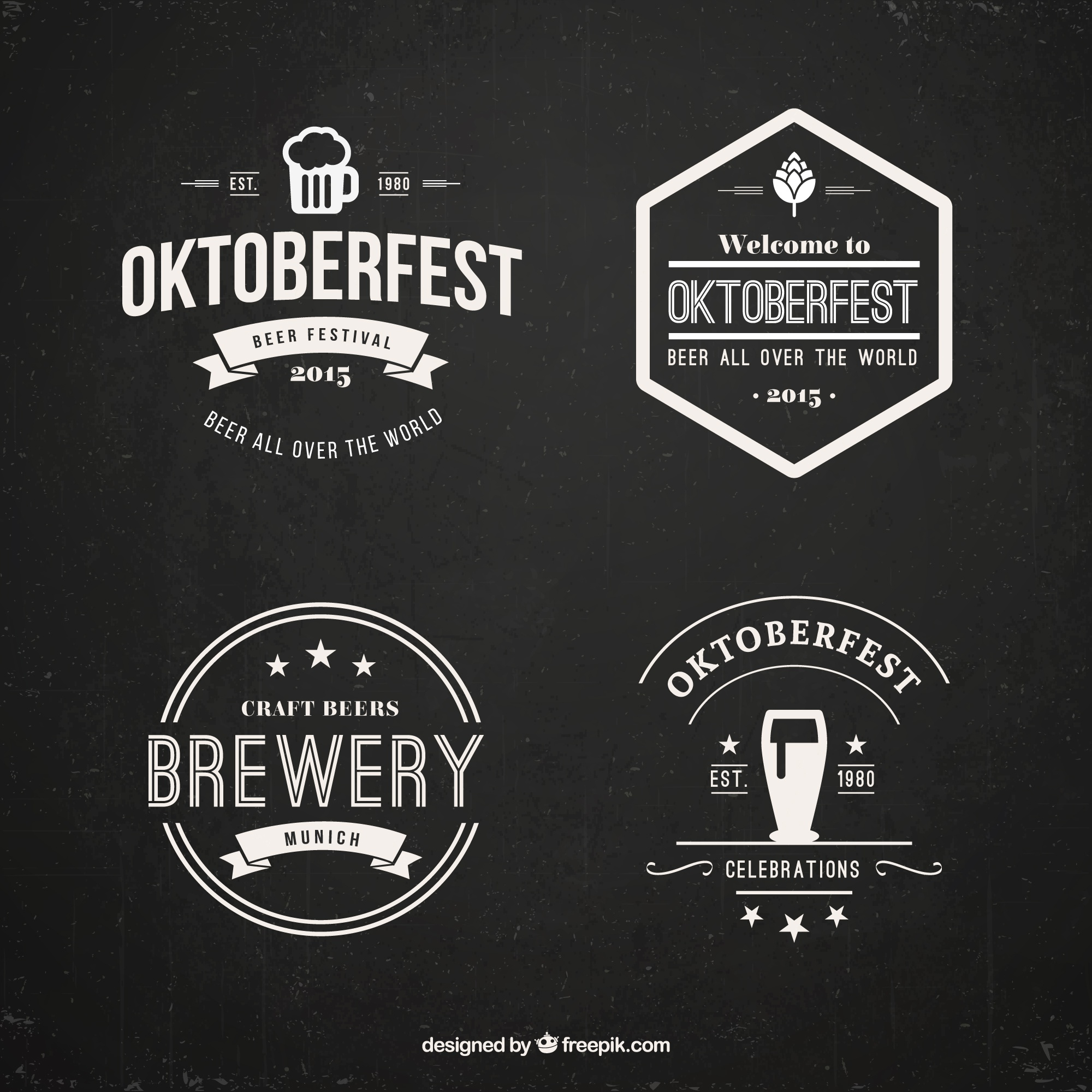 oktoberfest badge set