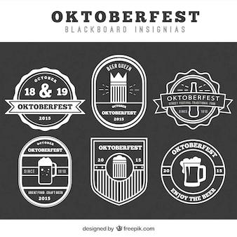 Oktoberfest blackboard insignias