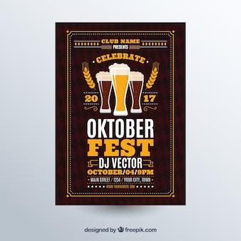 Oktoberfest, dark brown poster