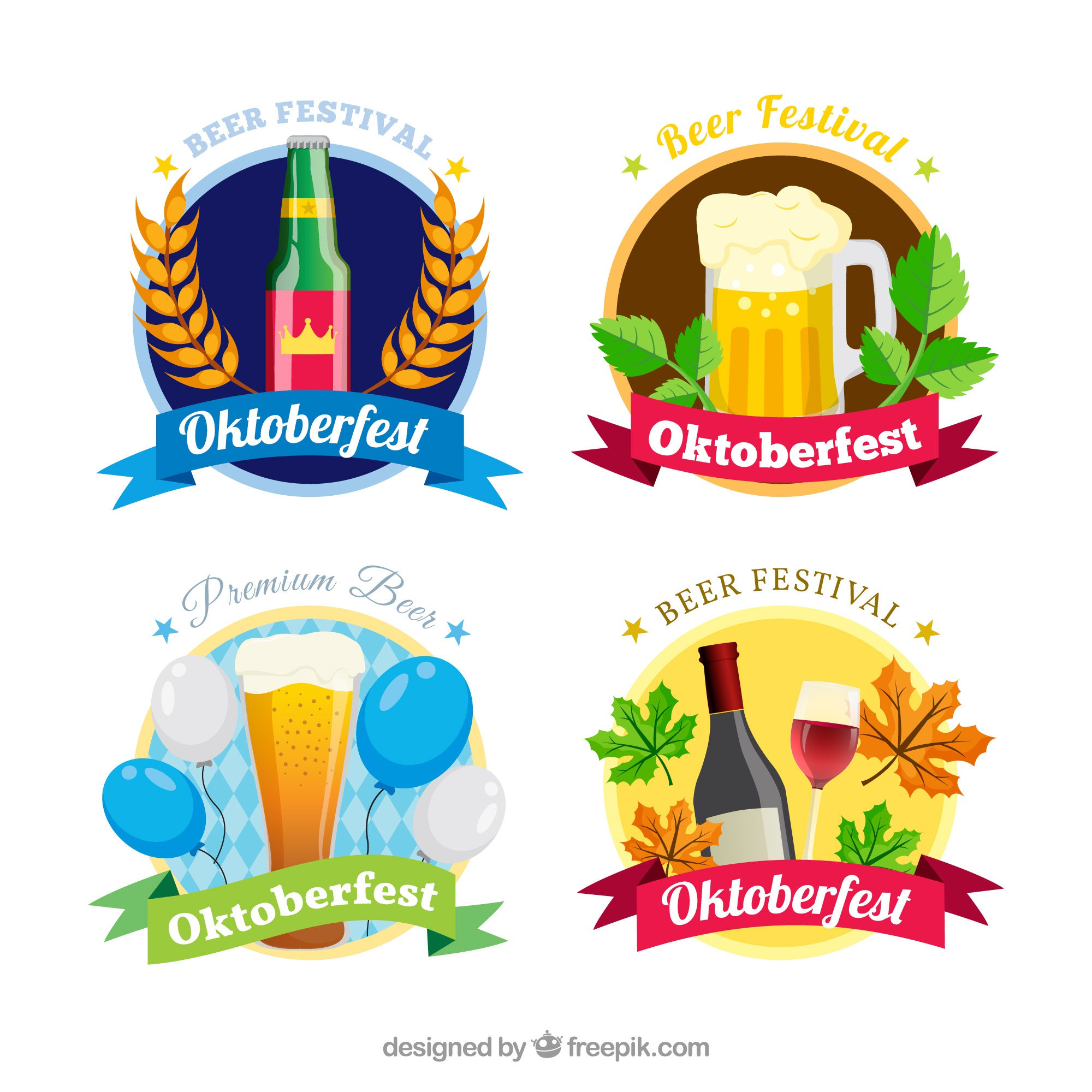 oktoberfest stickers set