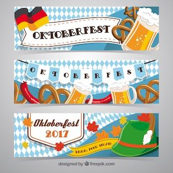 Oktoberfest, three banners