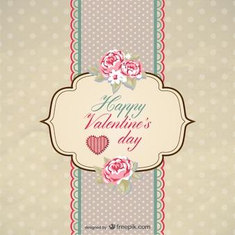 昔ながらのバレンタインカードベクトル