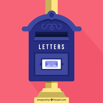 Old mailbox background in flat design