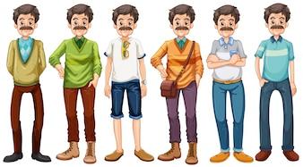 異なる衣装を着ている老人
