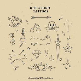 Old school tattoos selection