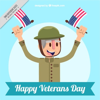Old soldier veterans day background