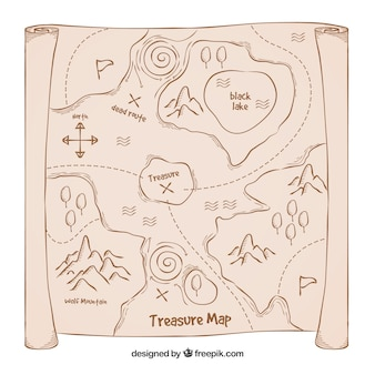 Old treasure map background