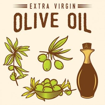 Olive oil background design