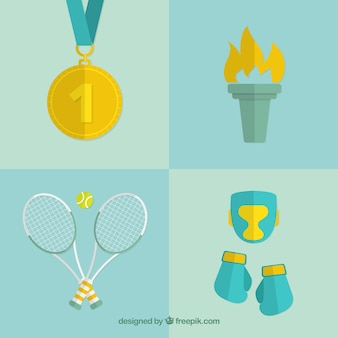 Olympic elements set in flat design
