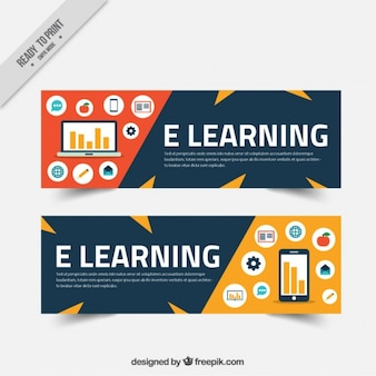 Online e-learning banners