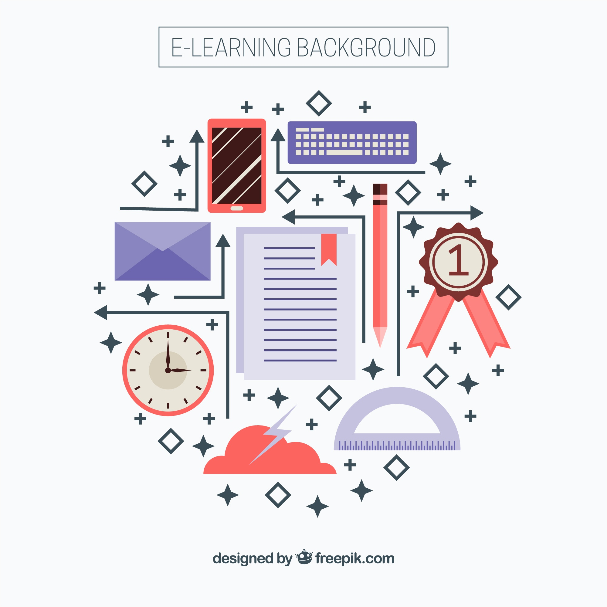 Online flat learning elements background