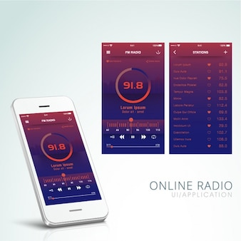 Online radio application