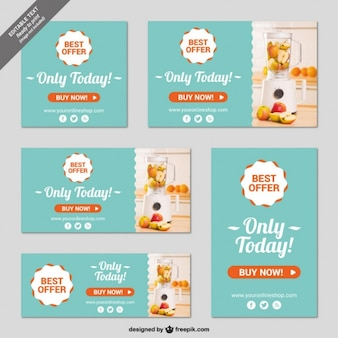 Online shop banner templates