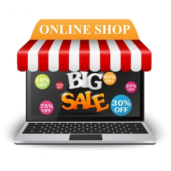 Online shopping background