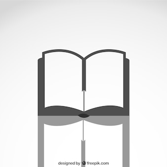 Open book icon with reflection