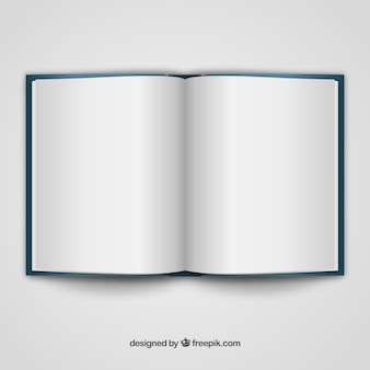 Open book realistic template