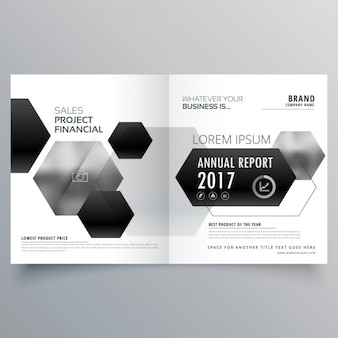 Open geometric brochure