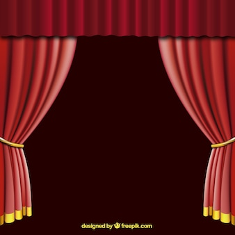 open red curtain
