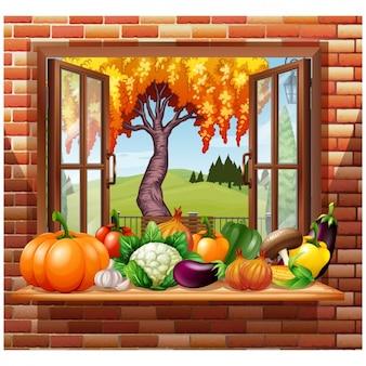 Open window background design