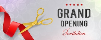 Opening banner with elegant design