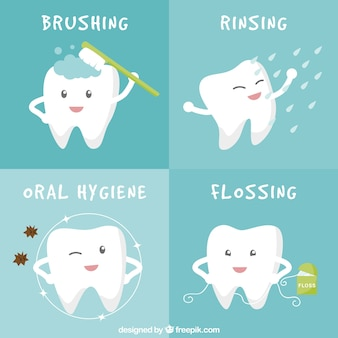 Oral hygiene banners