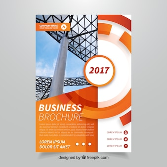 Orange abstract business brochure