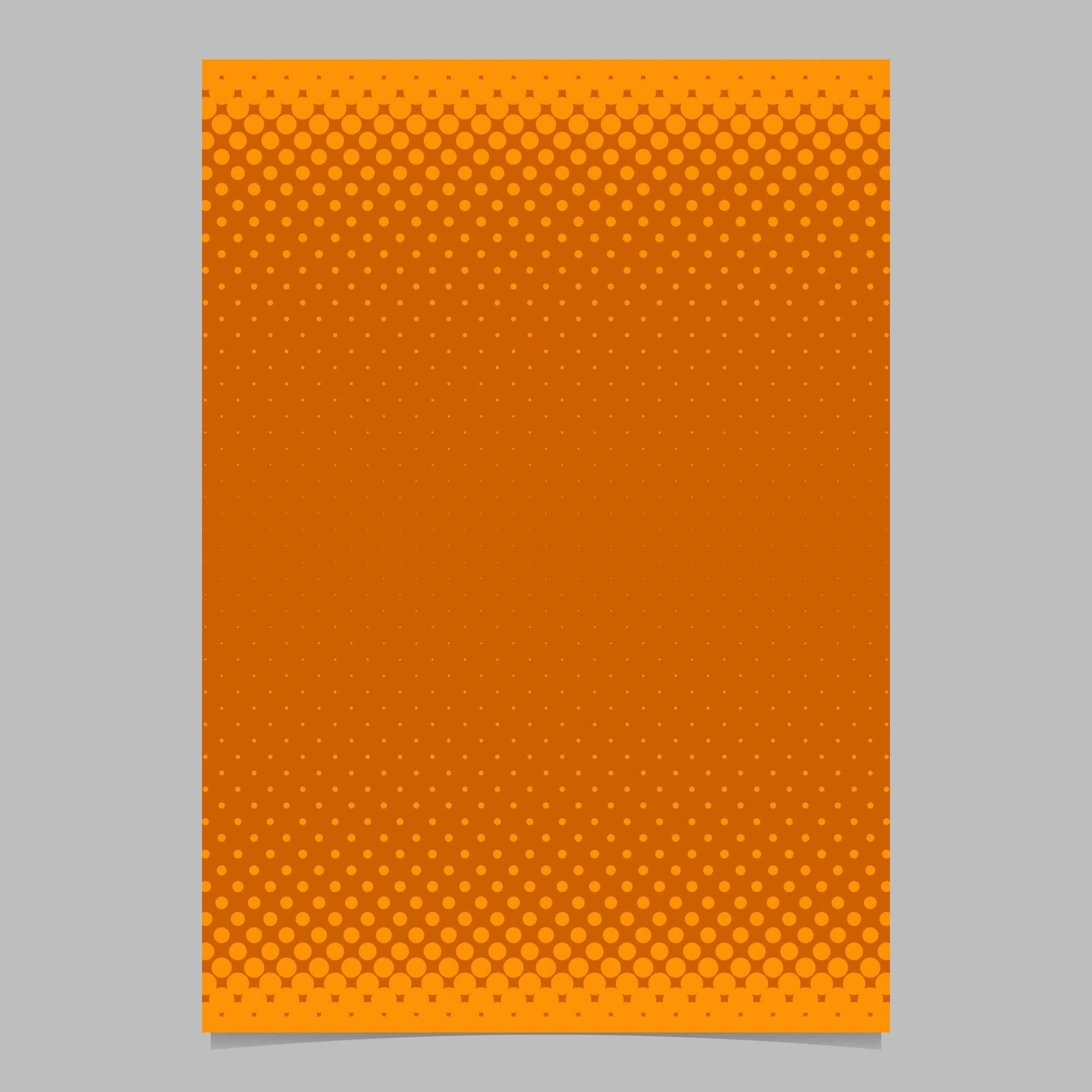 Orange abstract halftone dot pattern brochure template - vector flyer background illustration with colored circles