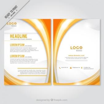 Orange abstract shapes brochure