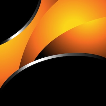 Orange and black background design