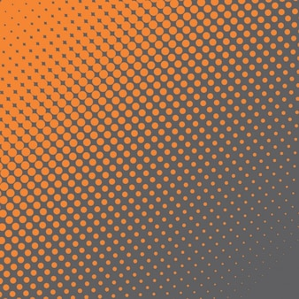 Orange and black background with halftone dots