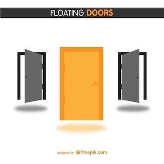 Orange and black doors