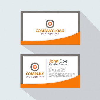 Orange and grey business card