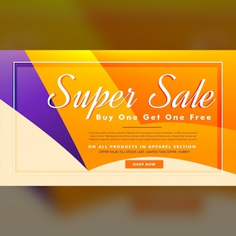 Orange and purple discount voucher