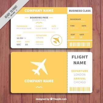 Orange and white boarding pass template