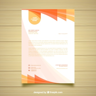 Orange and white business document