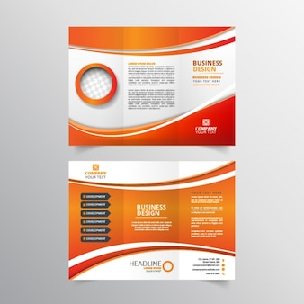 Orange and white flyer design