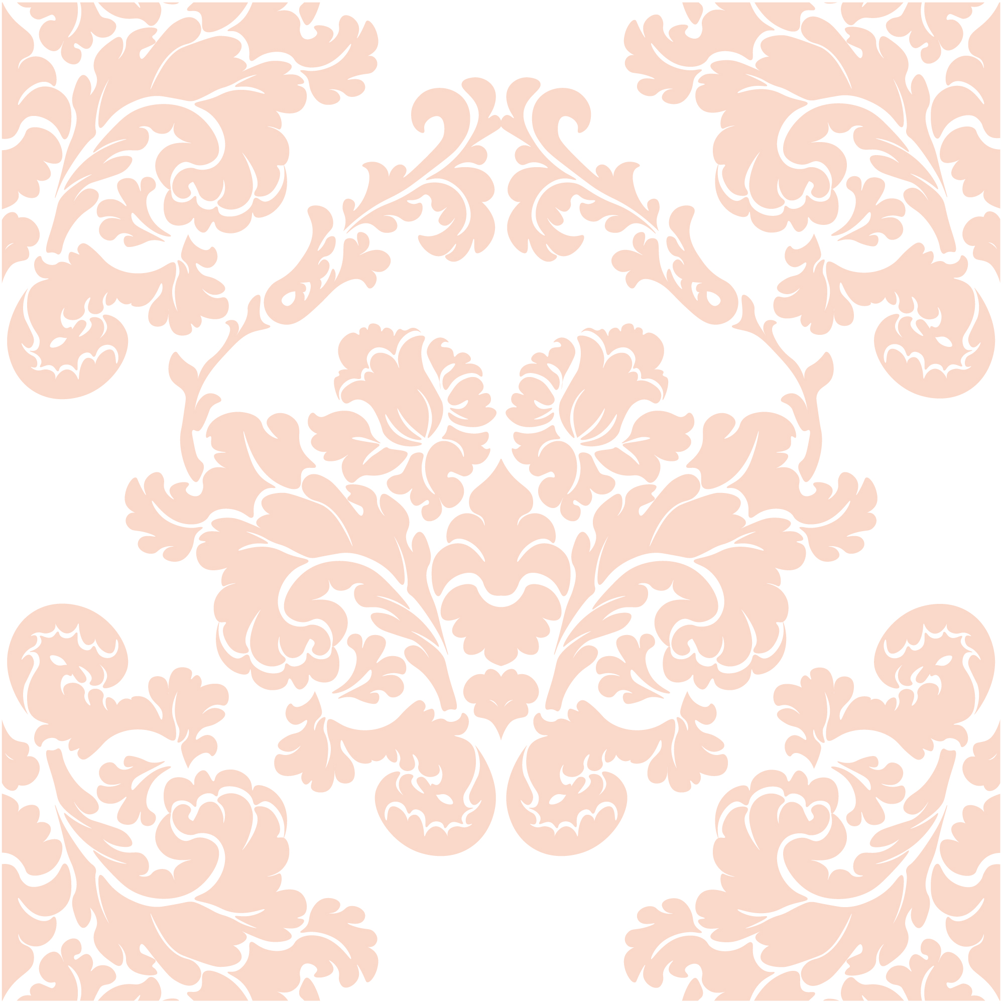 Orange and white ornamental pattern background