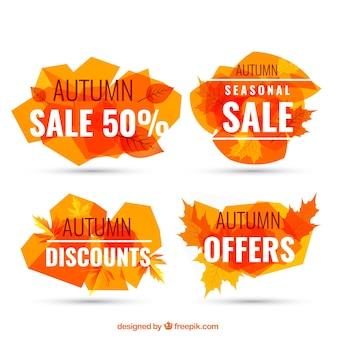 Orange autumn sale banners