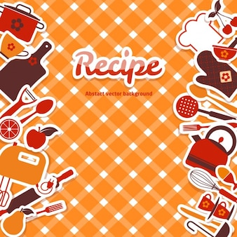 Orange background about recipes