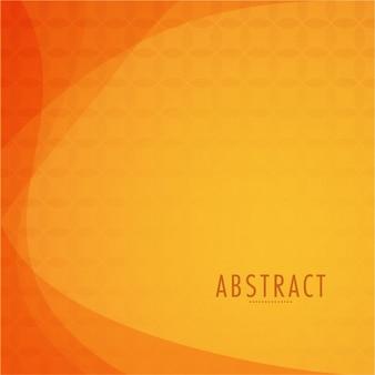 Orange background with wavy forms