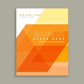 Orange business brochure template
