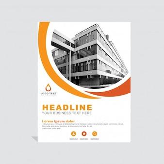Orange business brochure template