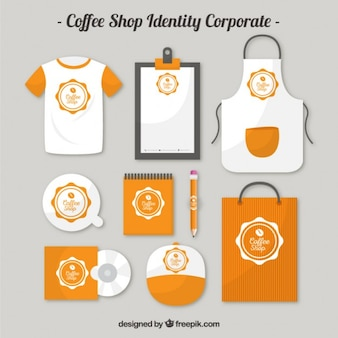 Orange Coffee shop indentity corporate