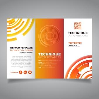 Orange corporate brochure