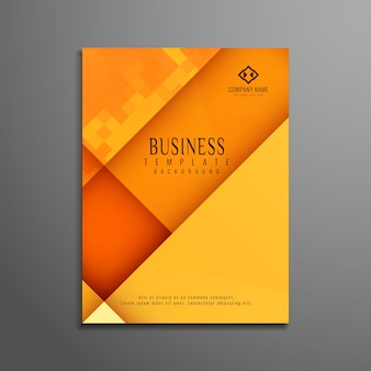 Orange corporate business brochure design