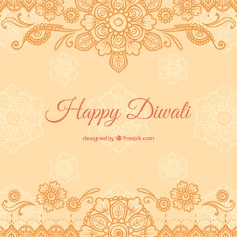 Orange Diwali background