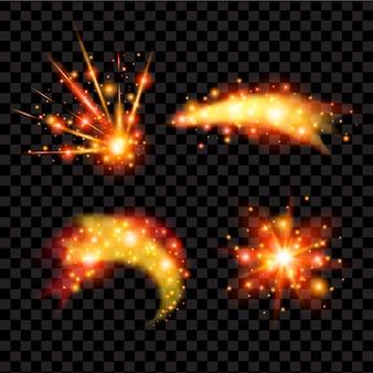 Orange fireworks design